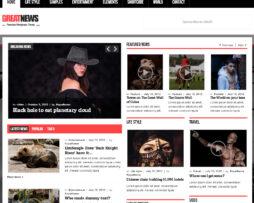 Tema site HTML para Notícias
