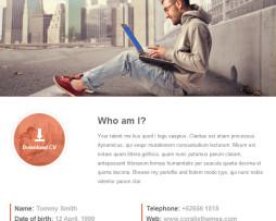 Tema site Html para Site Pessoal e currículo on line
