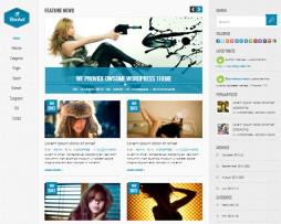 Tema site HTML clean para empresas c\ menu lateral