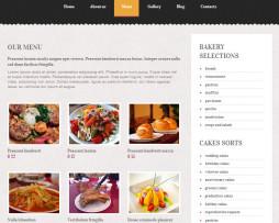 Tema site HTML Fantástico para cafés e docerias simples