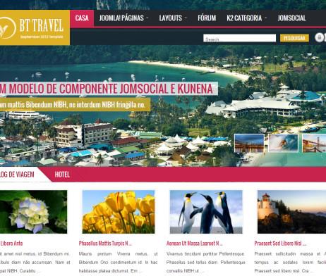 Tema site Joomla  para Viagens, Travel.