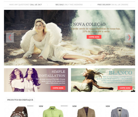 Tema Site Worpdress Loja Virtual Moderna