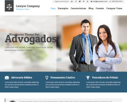 Tema site WordPress para Advogados
