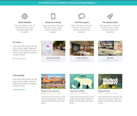 Tema site HTML Fantástico para Agências e Eventos