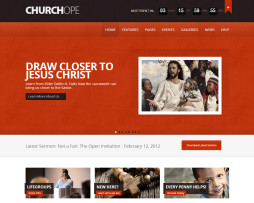 Tema site WordPress para igrejas