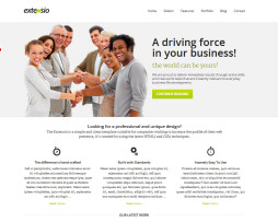 Tema site HTML para empresas multiuso moderno