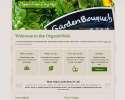 Tema site wordpress para fazendas, plantações, orgânico, verde