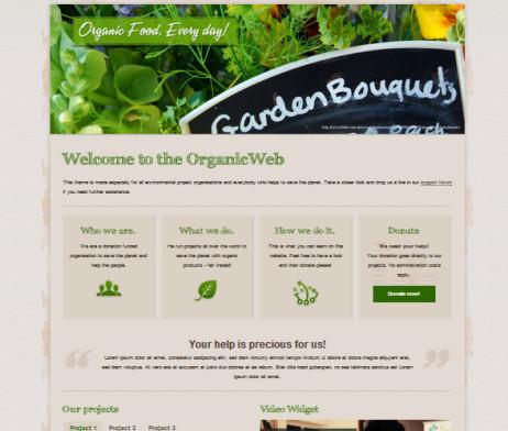 Tema site wordpress para fazendas, plantações, orgânico, verde | Rei ...