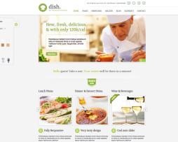 Tema site HTML para restaurantes, padarias, bares