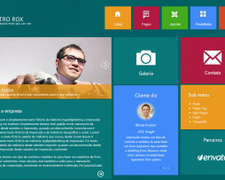 Tema Joomla Moderno para Empresas visual windows 8