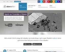 Tema site HTML para empresas e agências multiuso c\ portfólio