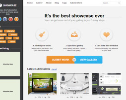 Tema site HTML para designers com showcase