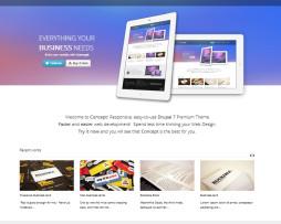 Tema site Drupal para agências e designers
