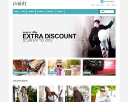 Tema site Joomla Virtuemart para loja virtual multiuso