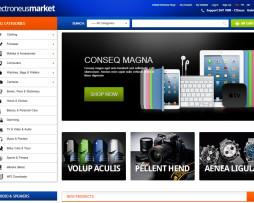 Tema Loja virtual magento para eletronicos, eletrodomesticos
