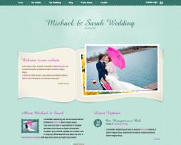 Tema site Html para casamentos, noivos