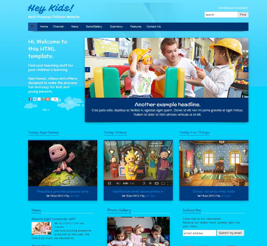 7f77df5265 Tema site HTML para kids