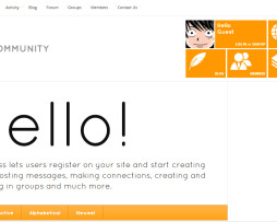 Tema site WordPress budpress para rede social, comunidades, fóruns