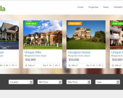 Tema site HTML para imobiliário moderno