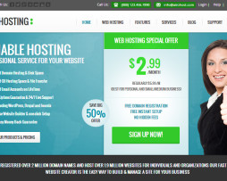 Tema site HTML para hosting, hospedagem de sites, host