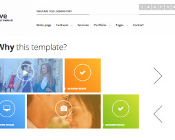Tema site HTML para empresas multiuso estilo windows 8