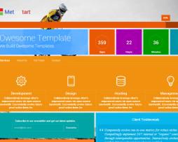 Tema site HTML para site em construção metro, design windows 8
