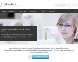 Tema site wordpress para laboratórios
