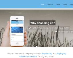 Tema site HTML para designers e agências