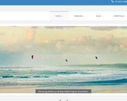 Tema site HTML para corporativo, negócios, clean