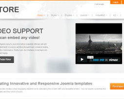 Tema site Joomla Corporativo , negócios c\ virtuemart