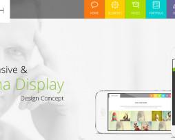 Tema html metro, visual windows 8 moderno