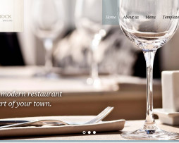 Tema site html para restaurantes fino e clean