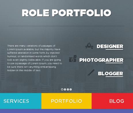 Tema site html para portofólio, site pessoal color e clean