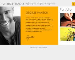 Tema site HTML para site pessoal, curriculo, portfólio elegante