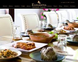 Tema site HTML para restaurantes e bares finos