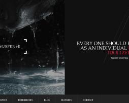 Tema site HTML para agências, escuro c/ portfólio