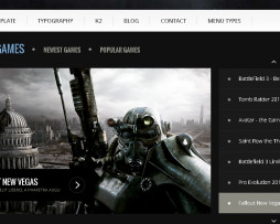Tema site Joomla para games, noticias e revista