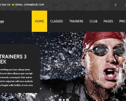 Tema site HTML para academias e esportivo