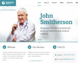 Tema site HTML para médicos e dentistas