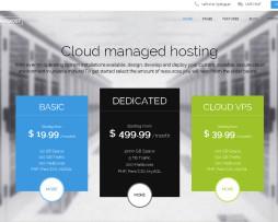 Tema site Joomla para hosting, hospedagem, host