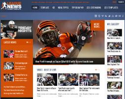 Template Site Joomla Para Magazine, Notícias, Esporte
