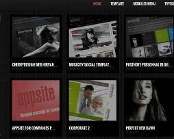 Tema Site Joomla Para Blog Escuro Diferente