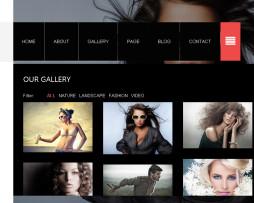 Tema site HTML para fotógrafos e stúdios