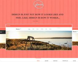 Tema site HTML Escuro simples