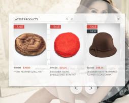 Tema Loja virtual magento para roupas, moda, fashion menu lateral