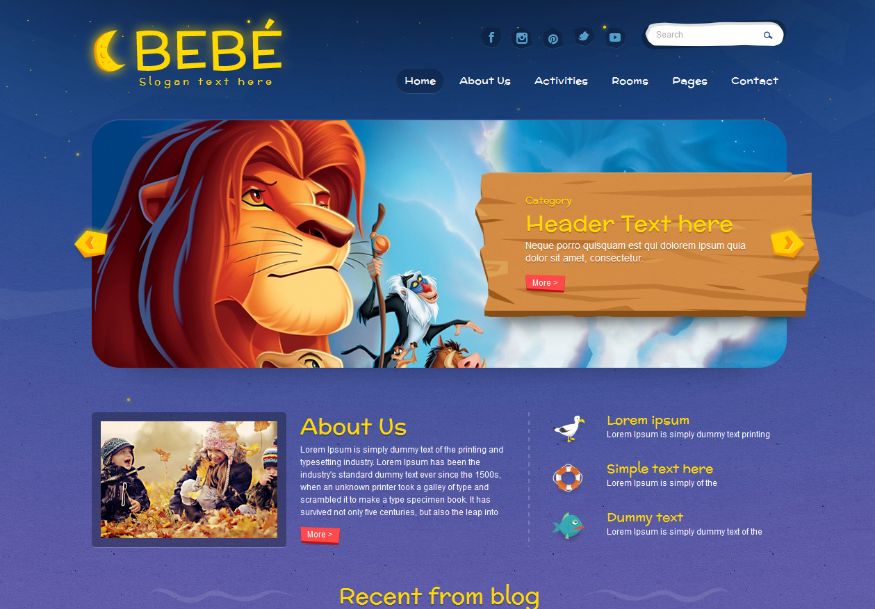 78cf6c1e5b Tema site HTML para crianças