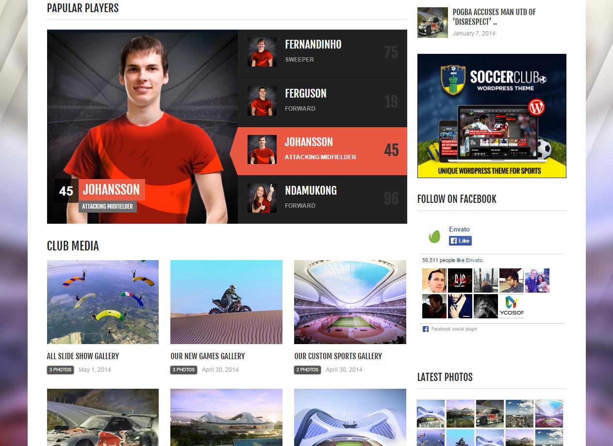 Tema site wordpress para esporte clubes 8a56e78a6f9b3