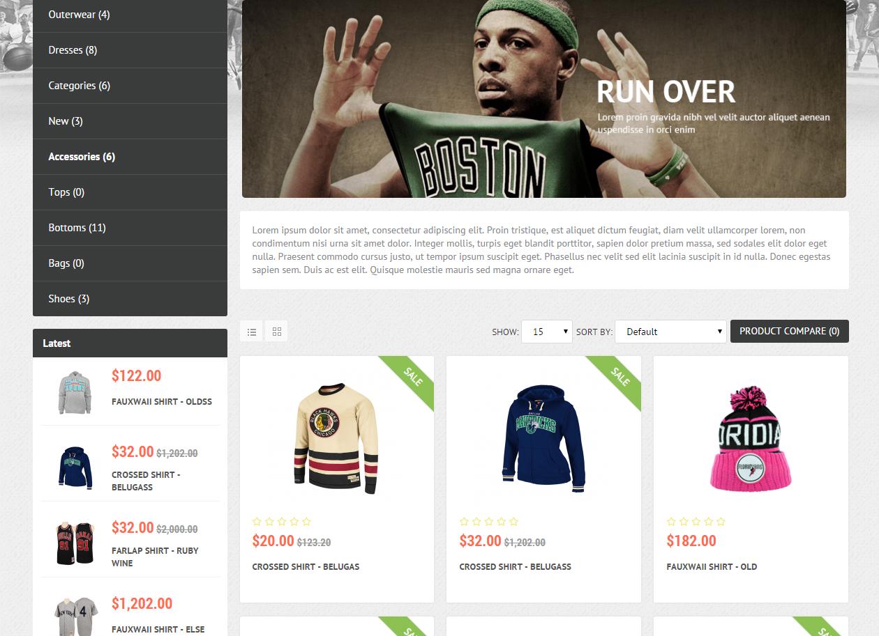 15e62b17f Tema Loja Virtual OpenCart para Roupas Esportivas, Calçados, Acessórios