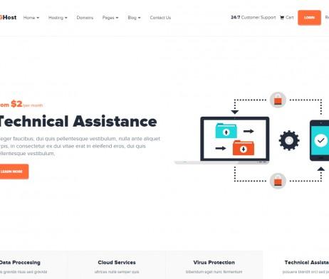 Tema site wordpress para empresas de hospedagem, whmcs   Rei dos ...