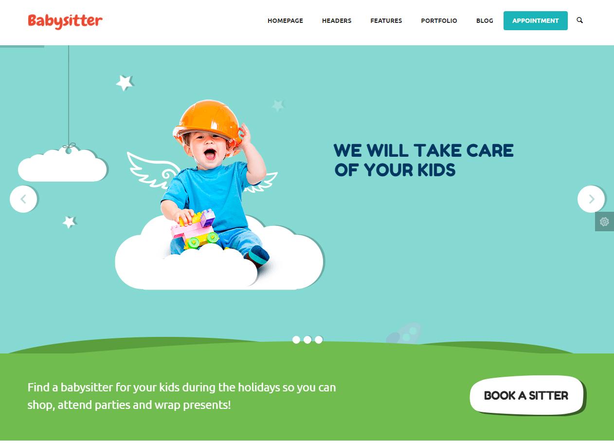 Tema site wordpress para crianças, bebes, infantil | Rei dos Templates
